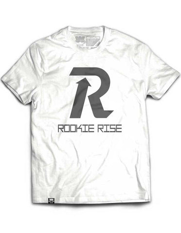 Letter Rise Tee - White/Gray - Rookie Rise Clothing