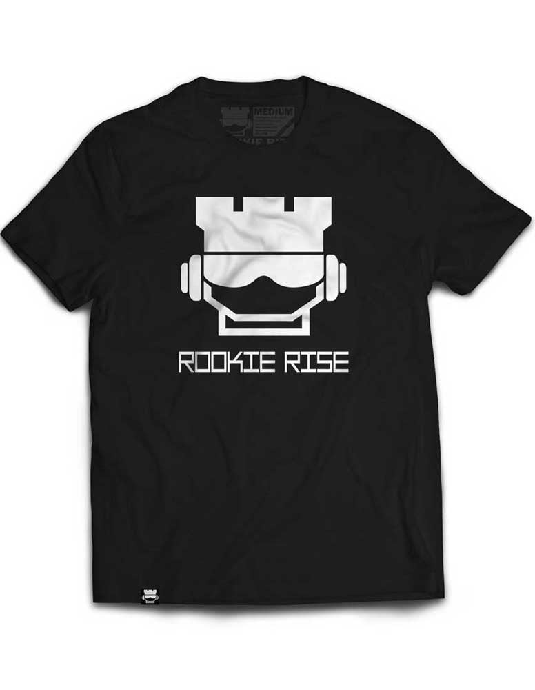 Rook Face Tee - Black/White - Rookie Rise Clothing