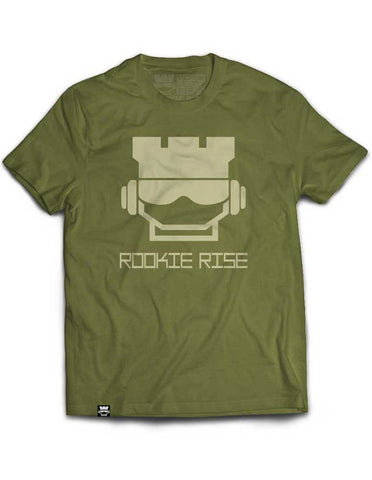 Rook Face Tee - Military/Vegas Gold - Rookie Rise Clothing