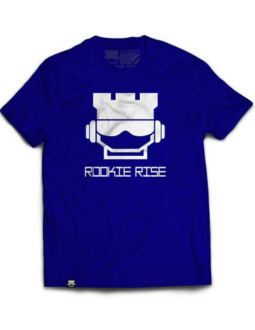 Rook Face Tee - Blue/White - Rookie Rise Clothing