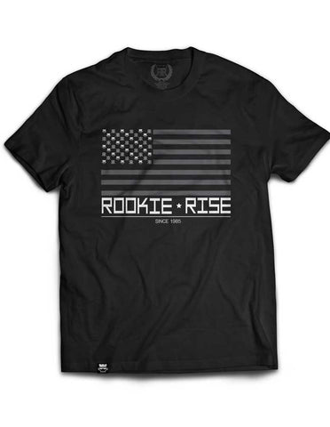 Rooks and Stripes Tee - Black/Gray - Rookie Rise Clothing