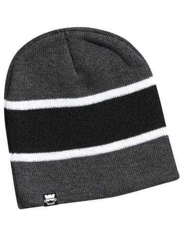 Tri Tone Beanie - Blk/Gry/Wht - Rookie Rise Clothing