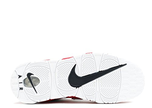 sports shoes 9a753 38681 Nike Kids Air More Uptempo Retro Basketball Shoes Varsity Red-White-Black 7  M