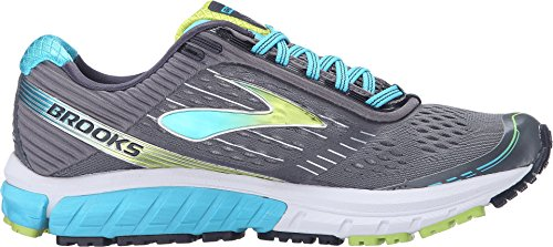 d7576a0a8e0ec Brooks Women s Ghost 9 Silver Blue Atoll Lime Punch Running shoes - 9 B
