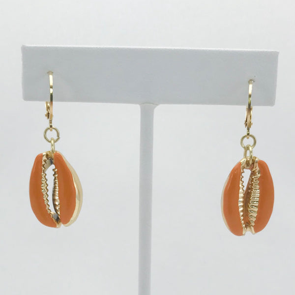 Cora Layne Colored Cowrie Huggie Hoop Earrings