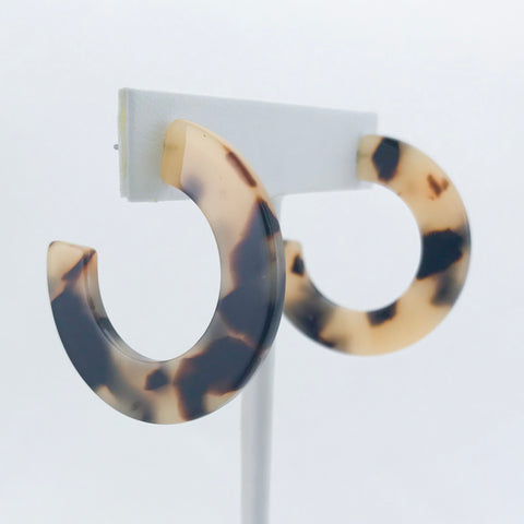 Lily Blair Tortoise Shell Hoop Earrings
