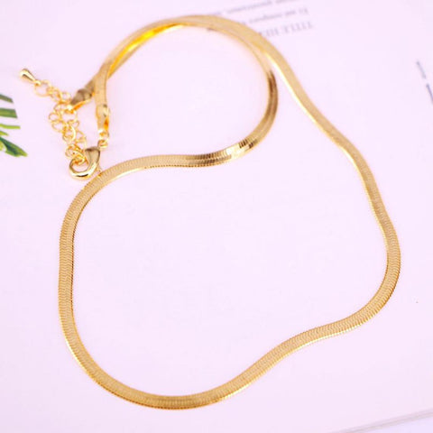 Thick Gold Snake Chain Necklace