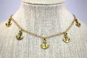 Anna Rebecca Anchor Dangle Necklace