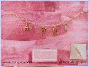 Alpha Phi A PHI Sorority Letter Necklace