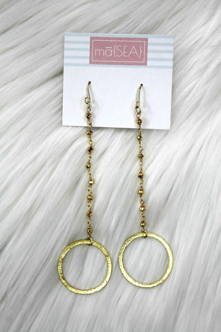 Logan Camila Circle Dangle Earrings