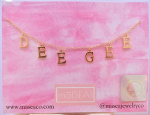 Delta Gamma DEE GEE Sorority Letter Necklace