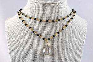 Penelope Iris Double Layer Necklace