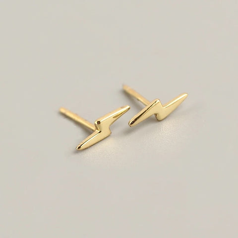 Lightning Bolt Stud Earrings