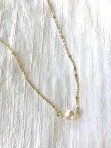 Macey Lauren Dainty Pearl Necklace