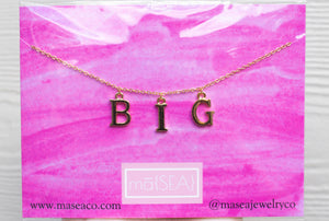 Big Sister Sorority Necklace/ Big Sis