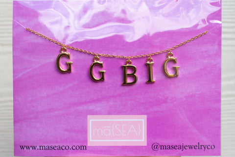 Great Grand Big Sister Sorority Necklace/ GGBig Sis
