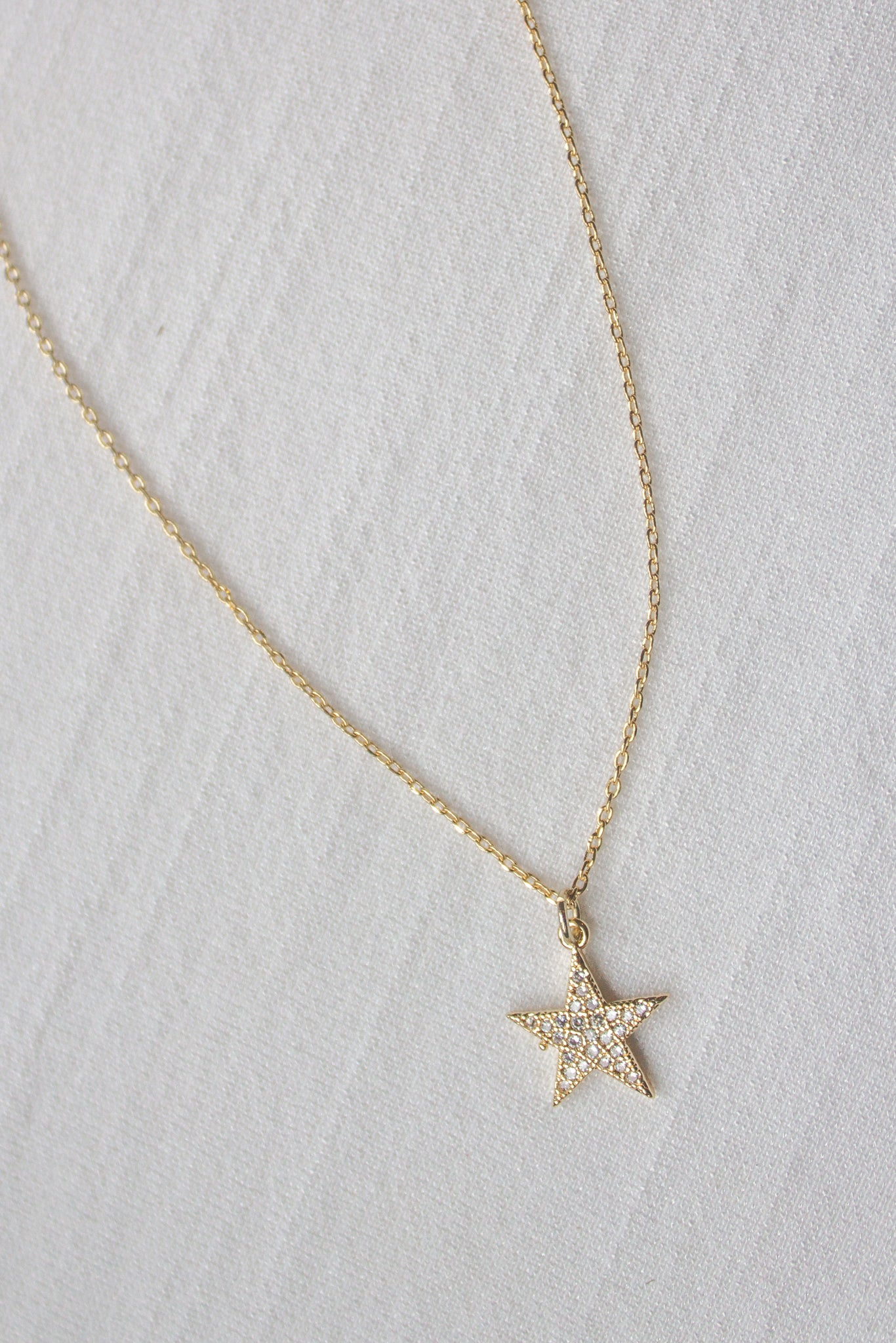 Dainty Crystal Star Necklace