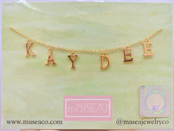 Kappa Delta KAY DEE Sorority Letter Necklace