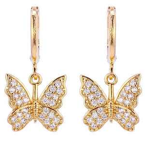 Anya Rhiannon Butterfly Drop Earrings