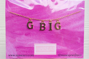 Grand Big Sister Sorority Necklace/ GBig Sis