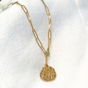 Cassandra Giselle Coin Necklace