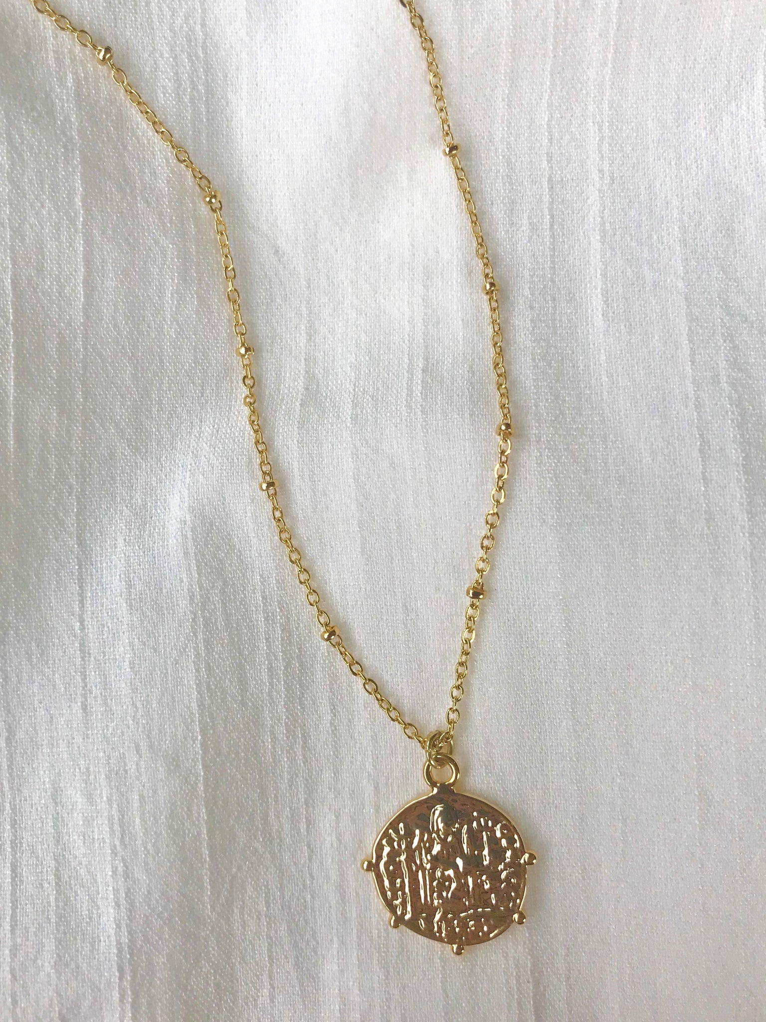 Chaney Mirabella Coin Necklace