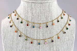 Liz Ann Double Layer Rainbow Necklace