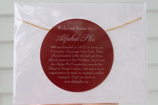 PREORDER NEW DESIGN! Alpha Phi A PHI Sorority Letter Necklace