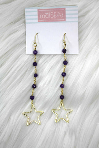 Elsie Clara Star Dangle Earrings