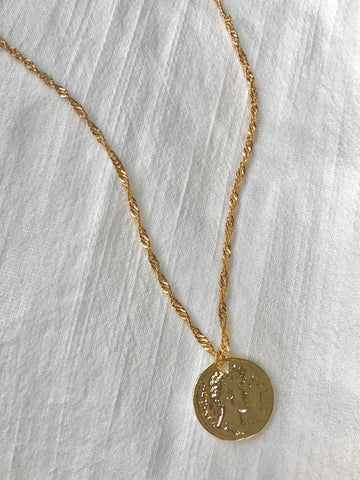 Lyra Joelle Greek Coin Necklace