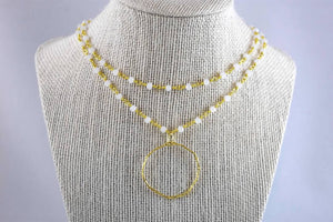 Daisy Summer Double Layer Necklace