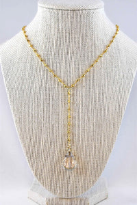 Penelope Iris Lariat Necklace