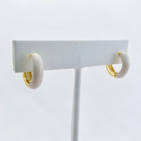 Cleo Evangeline Huggie Hoop Earrings