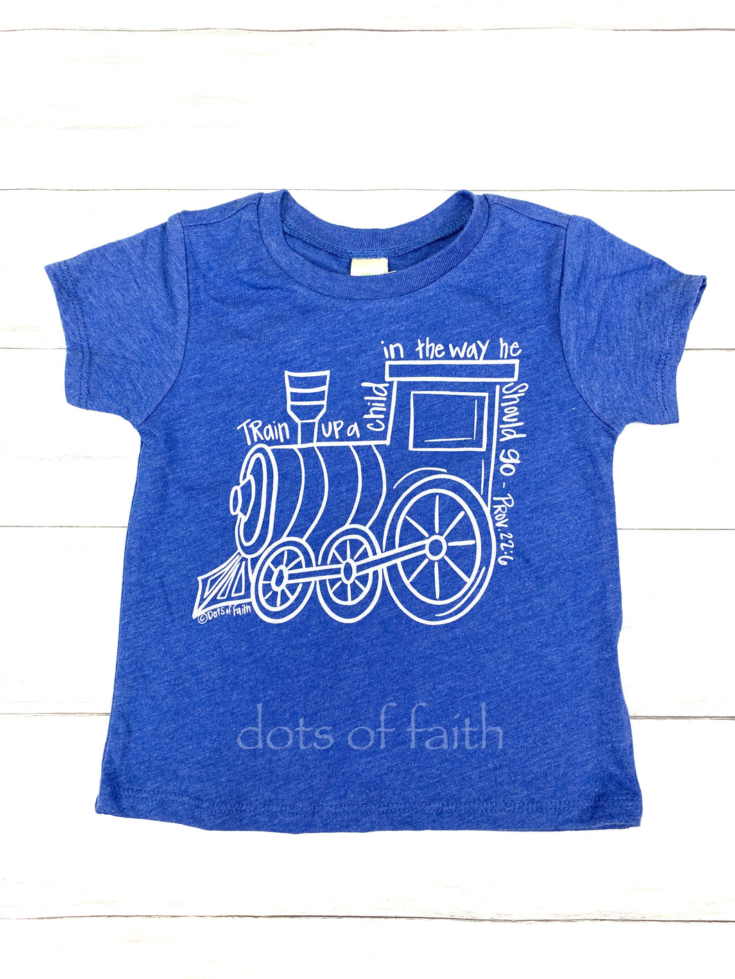 train BOYS royal shirt