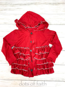 red ruffle jacket for GIRLS