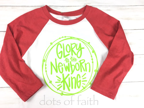 Glory red/lime baseball shirt kids