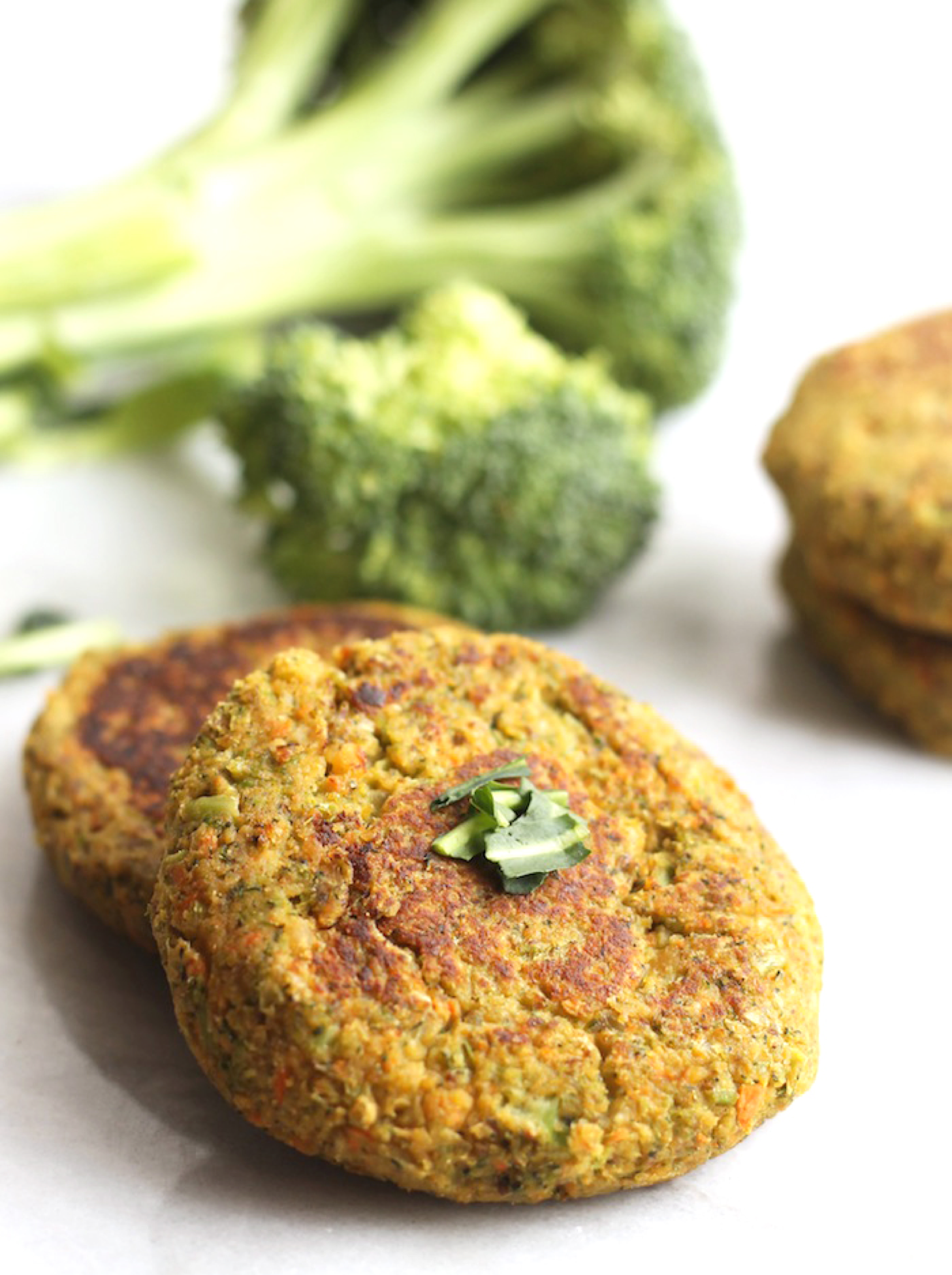 Organic Vegan Broccoli Burgers