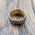 Damascus steel ring brass liner nefes treasures