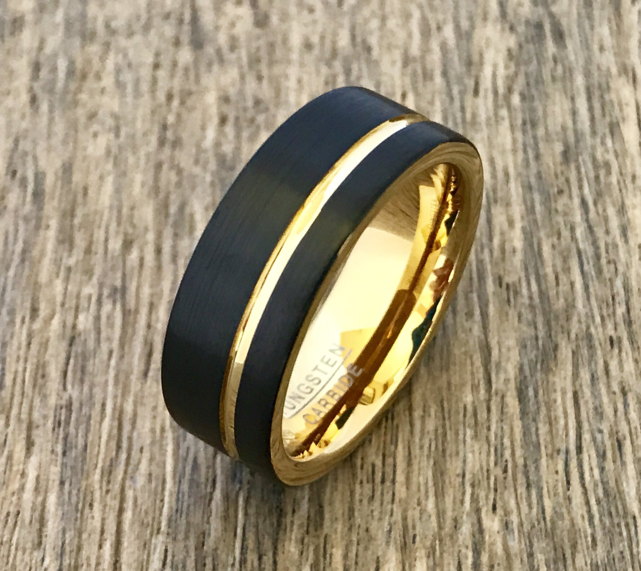 wedding rings and band cz bands black with inlay gay tungsten ring of gold mens lovely rose