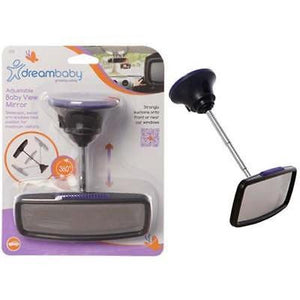 Brand New Dreambaby Deluxe Adjustable Baby View Car Mirror Baby Safety Dream - BumpsieDaisy