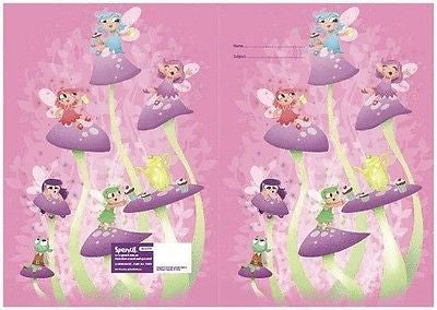 Spencil Fairy Tea Party Exercise School Book Cover A5
