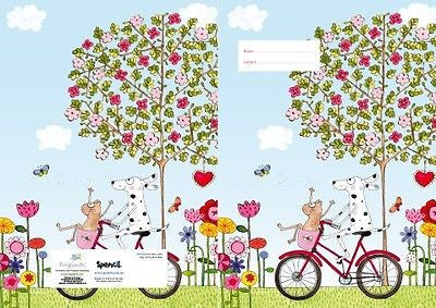 Spencil Saffy on the Move Bike Exercise School Book Cover A5 - BumpsieDaisy