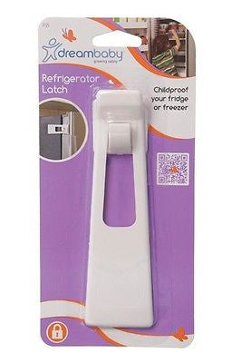 New Dreambaby White Refridgerator Fridge Freezer Latch Baby Safety Lock Dream - BumpsieDaisy