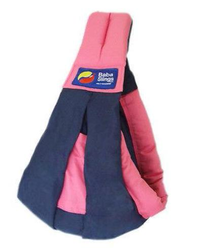 Baba Sling Baby Carrier Two Tone Navy & Pink - BumpsieDaisy