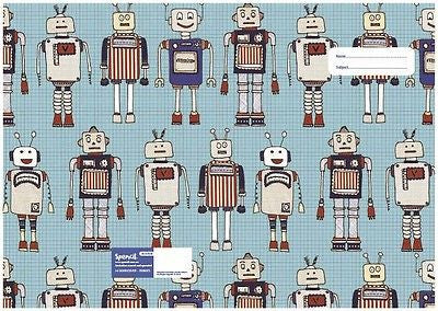 Spencil Robots Exercise School Book Cover A5 - BumpsieDaisy