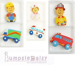 NEW Spencil Workers Eraser Set Designs Avail. Ambulance Fire Engine Truck - BumpsieDaisy