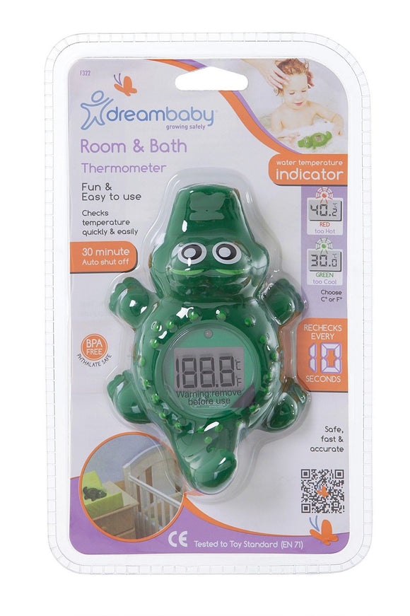 New Dreambaby Bath Room Digital Thermometer Croc Crocodile Baby Safety Dream - BumpsieDaisy