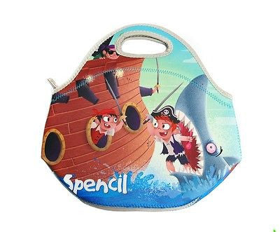 NEW Spencil Pirates Neoprene School Lunch Bag with zip & handles - BumpsieDaisy