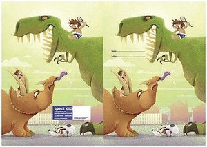 Spencil Dinosaurs Exercise School Book Cover A5