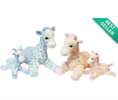 New Korimco Twinkles Large Giraffe Baby Toy 27cm Pink & Blue Available - BumpsieDaisy